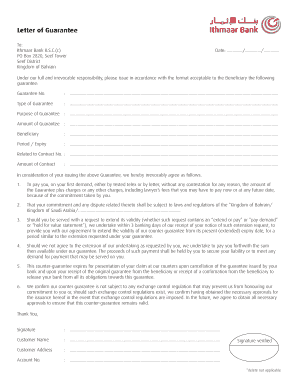 Printable bank guarantee confirmation letter format - Edit, Fill Out