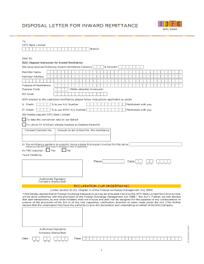 letter for reversal of bank charges - Edit, Fill, Print
