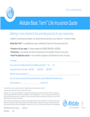 Allstate Term Life Insurance Quote Endearing Fillable Online Form Colorado Bill Of Sale Motor Vehicle Dr 2173