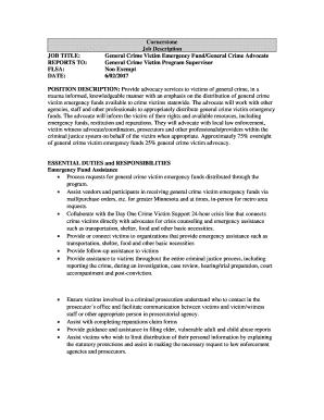victim advocate cover letter