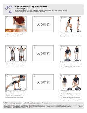 Printable dumbbell workout poster pdf Form Templates to