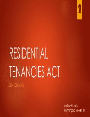 Residential Tenancies Act 2006 Ontario Pdf Download