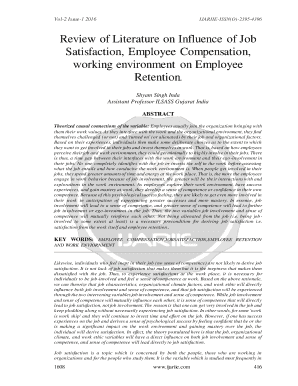 literature review of employee satisfaction