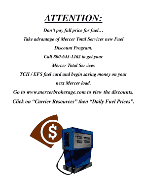 Mercer Fuel Prices >> Fillable Online Take Advantage Of Mercer Total Services New