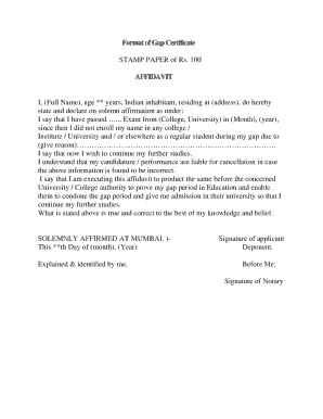 Fillable affidavit format in hindi - Edit Online & Download Forms in