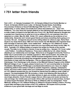 I 751 letter from friends Fill Online, Printable, Fillable, Blank