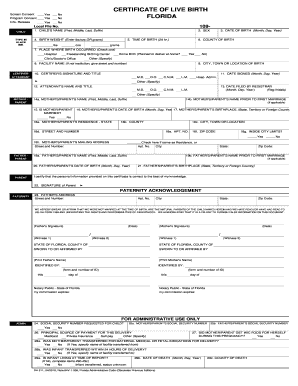 Remove Father S Name From Birth Certificate Florida Printable