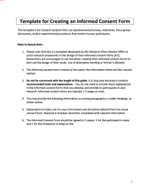 Fillable Consent Form For Research Interview Edit Online