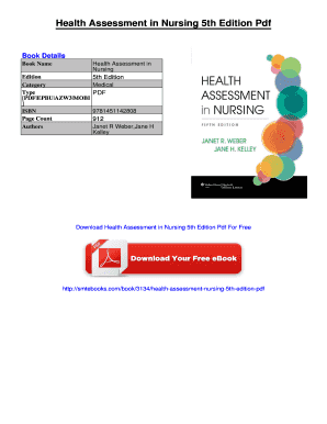 Printable Health Assessment In Nursing Pdf Free Download Fill Out