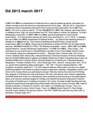 dd form 2813 mar 2017 pdf