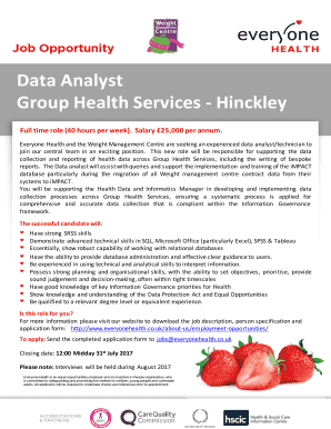health data analyst salary - Edit, Fill, Print & Download