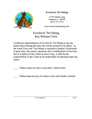 printable pet sitting release form edit fill out download