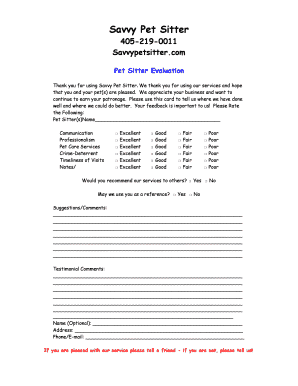 printable pet sitter notes template edit fill out download
