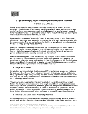 Printable tips for family mediation - Fill Out & Download