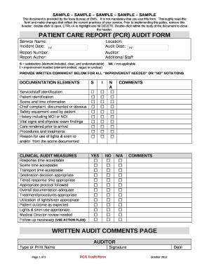 Sample Patient Care Report