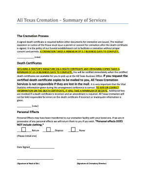 free cremation in texas - Edit & Fill Out, Download