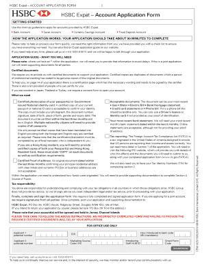 hsbc hong kong close account request form - Edit, Fill