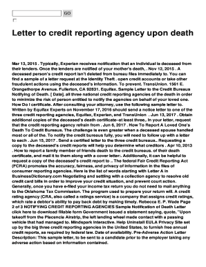 Fillable sample letter to credit bureau to report death edit sample letter to credit bureau to report death spiritdancerdesigns Choice Image
