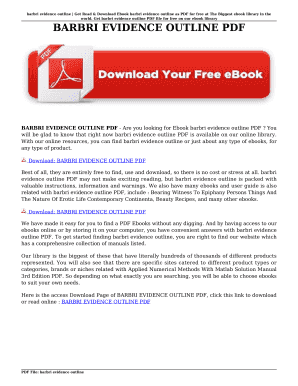Printable barbri outlines pdf - Fill Out & Download Online