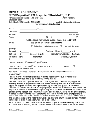 Fillable Online Residential Lease Agreement Free Rental Lease Form