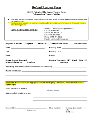 ncspc Fillable Online NCSPC: Nebraska Child Support Payment Center Fax ...