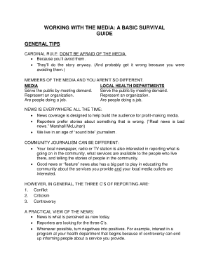 basic journalism interview questions fill out online forms
