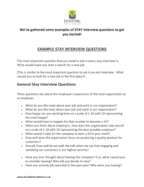 Weve Gathered Some Examples Of STAY Interview Questions To Get