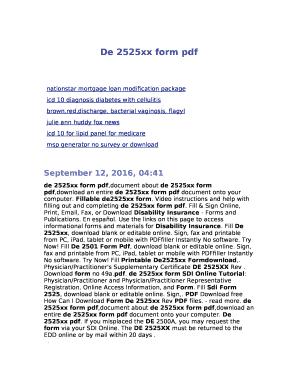 fillable online de 2525xx form pdf fax email print pdffiller