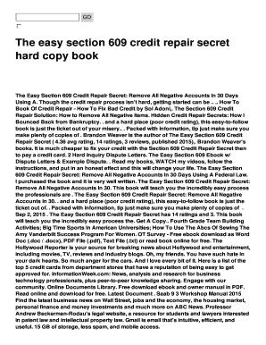 Credit repair letters pdf edit online fill print for Section 609 credit repair