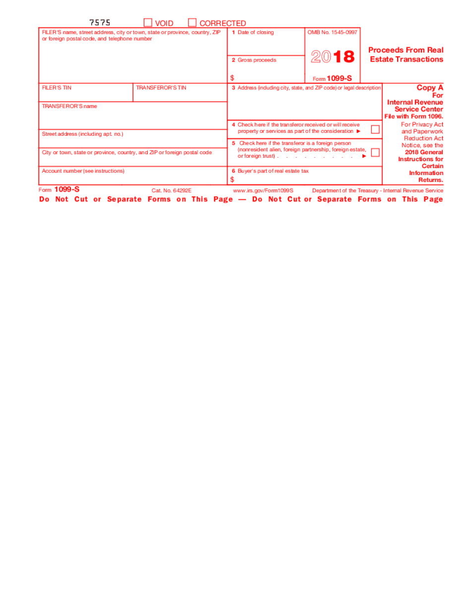 how to fill Form 1099-S