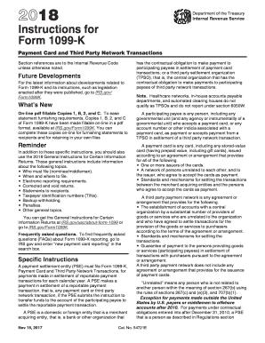 electronic irs form instructions 1099 k 2017 printable pdf sample. Black Bedroom Furniture Sets. Home Design Ideas