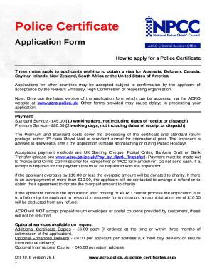 Acro Police Certificate >> UK Police Certificate - ACRO Criminal Records Office ...