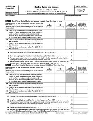 2017 form irs 1065 schedule d fill online printable fillable blank pdffiller. Black Bedroom Furniture Sets. Home Design Ideas