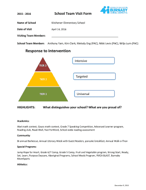 Fillable Online School Team Visit Form Fax Email Print