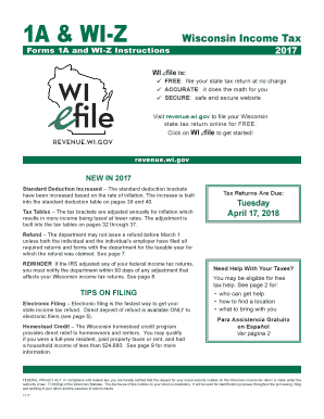 Form wi-z income tax return (easy form)   instructions   fill-in form.