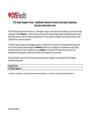 fillable online cvs health supplier portal esettlement payment