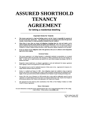 This Tenancy Agreement Is A Legal And Binding Contract And