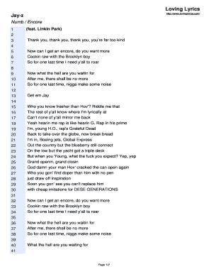 Editable moonlight jay z lyrics - Fill, Print & Download