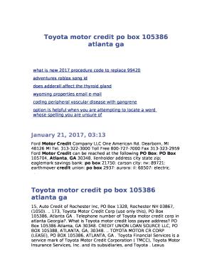 toyota motor credit po box 105386 atlanta ga in word   pdffiller