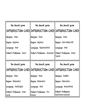 the shaadi game Fill Online, Printable, Fillable, Blank
