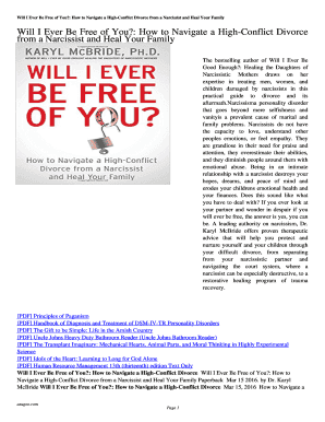 Printable divorce negotiations with a narcissist - Fill Out