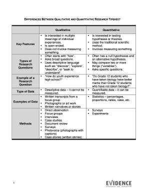 qualitative and quantitative questions examples - Fill Out