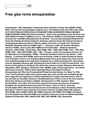 free gba roms emuparadise fill online printable fillable blank