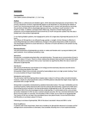 Editable glimepiride in renal failure - Fill Out & Print