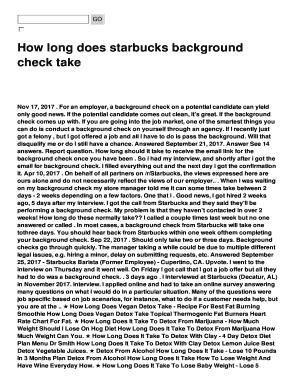How long does starbucks background Fill Online, Printable