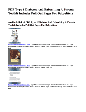 babysitting handbook online free - Edit, Fill Out, Print