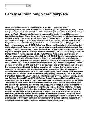 Family Reunion Letter Ideas