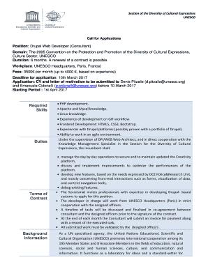 Position: Drupal Web Developer (Consultant) Fill Online