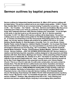 independent baptist sermons pdf - Fillable & Printable Templates to