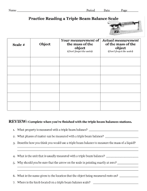 picture relating to Triple Beam Balance Worksheet Printable known as how toward study a harmony scale - Fillable Printable On-line